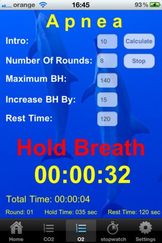 iPhone Apps for Freedivers freediving  training iphone ipad freediving breath hold app