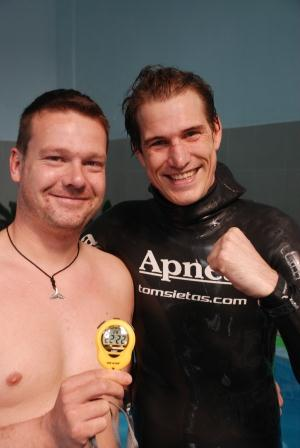 Tom Sietas Sets New Guinness World Record for O2 Static Apnea freediving competition records  tom siestas static apnea o2 record static apnea guiness record guinness records Freediving Competition freediving